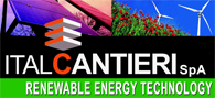 "Italcantieri S.p.A. Wind Power Turbines and Photovoltaic Stations manufacturing industry ""The Italian Renewable Energy Technology Sources"" offers efficient and economic solutions for Wind Power Stations, Photovoltaic Plants and customized Cogeneration Power Plants, today, the increasing energy demand and the need for clean power generation leads everyone s mind to the concept of Renewable Energy Sources. The Italcantieri customized Power Stations solutions have highly efficient, using solid and reliable wind turbine manufactuerd in Italy. Our Wind Power Stations offers a solution to meet energy needs and environmental awareness"